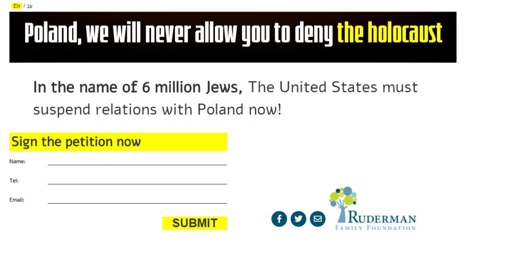 Evreii Cor ca SUA Să Rupă Legăturile cu Polonia Fiindcă Au Îndrăznit Să Spună Adevărul
