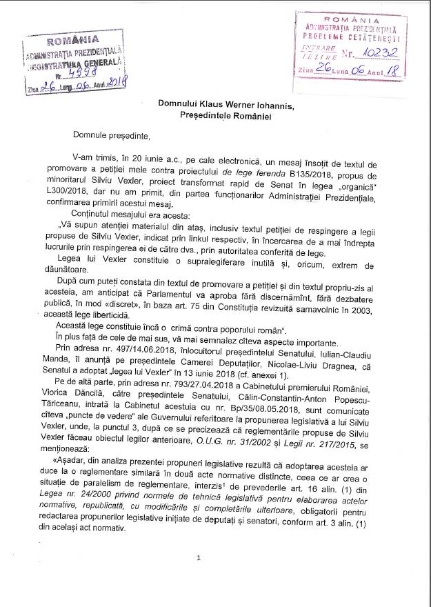 Scrisoare Deschisă Către Klaus Iohannis