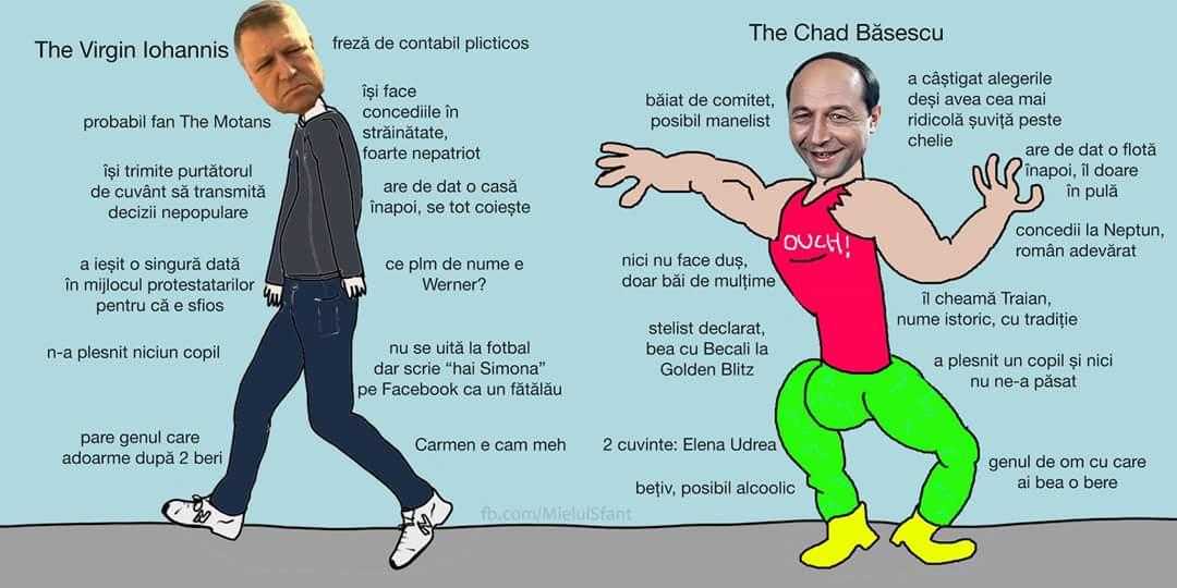 Klaus Iohannis versus Traian Băsescu