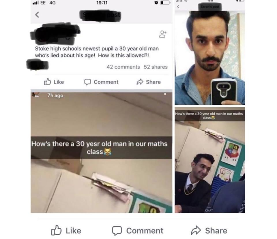 Bărbați Musulmani Înscriși în Clasa a 11-a la Liceu în Anglia