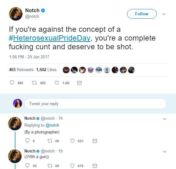 Notch Creatorul Minecraft