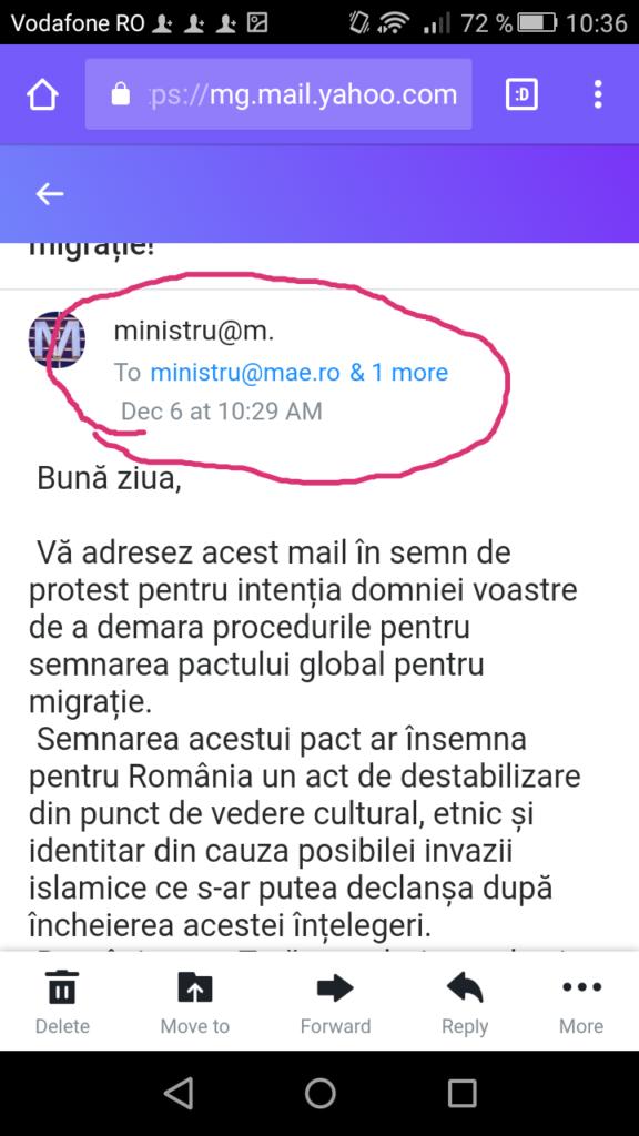 Scrisoare de Protest Adresată Ministrului T. Meleșcanu