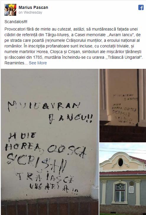 Noua Dreaptă Reacționează După ce Ungurii Profanează Casa Memorială Avram Iancu din Târgu Mureș