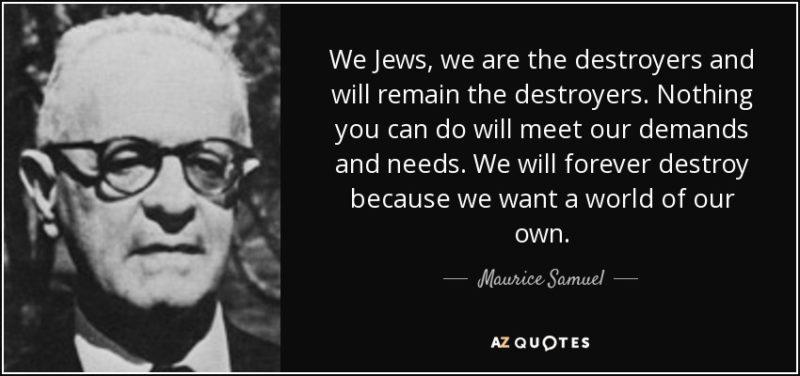 Misiunea Istorică Iudaismului este Distrugerea