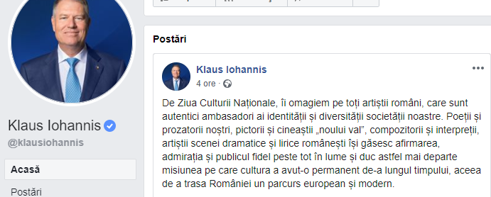 Iohannis Alergic la Mihai Eminescu