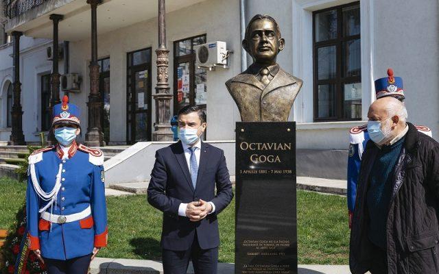 Bustul lui Octavian Goga comite un nou (?) holocaust