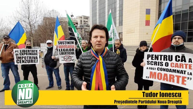 Protest împotriva legilor liberticide organizat de Noua Dreaptă