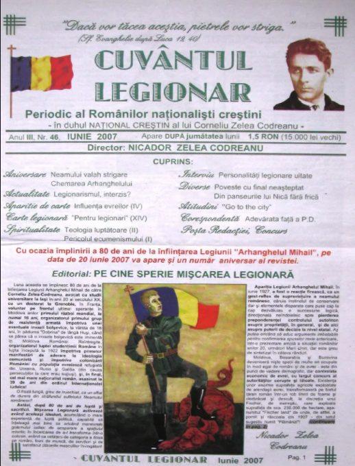 Ziarul Cuvîntul Legionar - 78 de ediții în format electronic descărcare gratuită